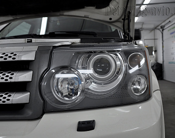 Land Rover Sport – Полировка фар